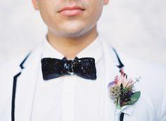 Sequin Bow Tie Photography: Marissa Lambert - marissalambertphotography.com