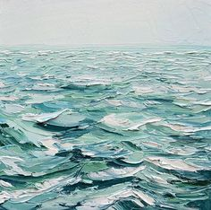 Minty Seas by @annmariecoolick | Oil on canvas   Follow me at https://es.pinterest.com/anakamina