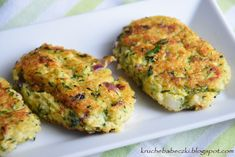 Kotleciki jaglane z cukinią | kruche babeczki Other Recipes, Sweet Recipes, A Food, Food And Drink, Quinoa Muffins, Salmon Burgers, Lunches, Bread Recipes, Baked Potato