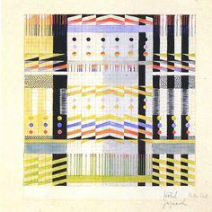 Gunta Stölzl - Bauhaus Master; Design for a Jacquard woven wall hanging 1928/29 Mounted on cardboard and inscribed lower right: 'Stölzl Jacquard 160 x 160' 24x23.8 cm Victoria & Albert Museum, London