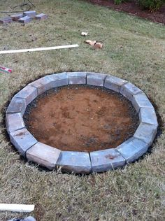 """fire pit... love this!  I'm thinking """"why not combine the firepit idea with the doggie pool idea I pinned a little earlier?!?!?!  Year-round use of the same space!""""  Ain't I clever....snagging other folks' ideas & slappin' 'em together and all ;-) !!  lol Easy Fire Pit, Large Fire Pit, Fire Pit Chairs, Fire Pit Seating, Fire Pit Landscaping, Fire Pit Backyard, Cinder Block Fire Pit, Cinder Blocks, Gazebo"""