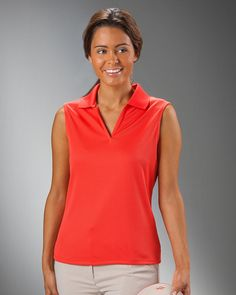 Nancy Lopez Ladies Sleeveless Golf Shirts (Excel) - Assorted Colors