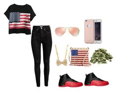 """can´t be like me"" by niah123bestie on Polyvore featuring beauty, Chicnova Fashion, Ray-Ban, TWIG & ARROW and NIKE"
