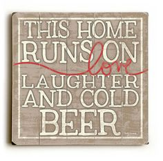 Love Laughter and Cold Beer  Man Cave by MistyMichelleDesign, $28.00