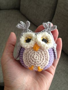 Crochet baby buggy owls mobile