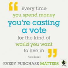 Think about it. Every purchase is a vote #FashionTakesAction