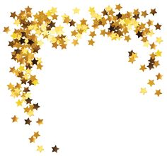 Gold Stars Decoration PNG Clipart Picture