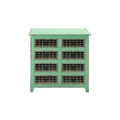 """Enterprises 8-drawer Wood Metal Basket dresser (WD MTL Basket Dresser 32""""W, 34""""H), Black"""