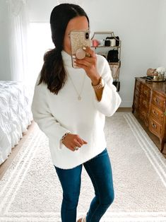 Work Wardrobe, Winter Wardrobe, Cozy Winter Outfits, Cream Sweater, Girl Blog, Try On, December, Posts, Fantasy