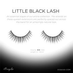 """These are the CUTEST """"Little Black Lash' #lashes from #ESQIDO. If you have short lashes and are looking for a pair that is very natural and mimics your own lashes...this is the pair for you. http://ESQIDO.com #minklashes #falselashes #eyelashes #eyelashextentions #fakelashes #luxury #wishlist #makeup #beauty #mua #falsies"""