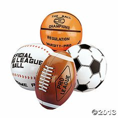 Inflatable Sport Ball Assortment - Oriental Trading