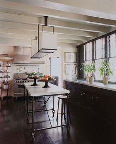 Custom island + kitchen design via Elle Decor