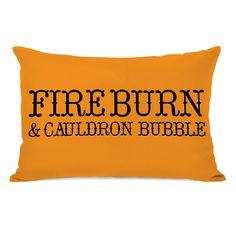 One Bella Casa Fire Burn - Orange Throw Pillow by OBC (14x20 Throw Pillow) (Polyester, Graphic Print)