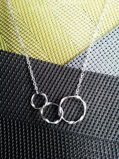 Eternity love Triple Circle Necklace  Best Friends by LaLaCrystal, $22.50