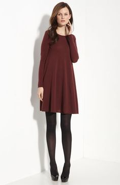 cashmere swing dress - cozy & cute for the holiday  #ModernThanksgiving