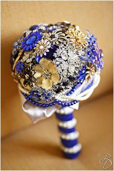 Stunning blue brooch bouquet! Photo by Louisiana based Photographer Bray Danielle Photography braydanielle.com #braydaniellephotography #wedding #weddingideas #weddingdecore #broochbouquet #somethingblue