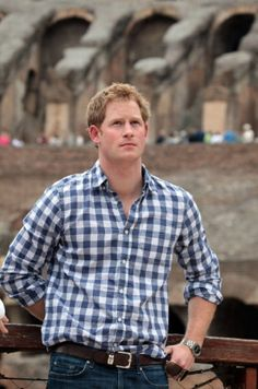 Prince Harry visits the Colosseum on 19.05.2014 in Rome, Italy.