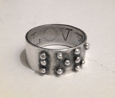 Love is Blind braille Ring