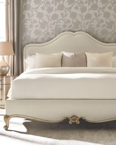 Shop Night And Day Queen Bed and Matching Items from caracole at Horchow, where you'll find new lower shipping on hundreds of home furnishings and gifts. Guest Bedrooms, Bedroom Sets, Home Bedroom, Bedroom Decor, Bedding Sets, Bedding Storage, Shabby Bedroom, Bedding Decor, Chic Bedding