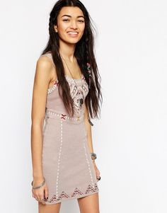 Free People | Free People Song Of The South Bodycon Dress at ASOS