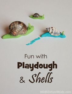 Playdough and shell craft - set up as an invitation to play with one done? Playdough Activities, Toddler Activities, Preschool Activities, Insect Activities, Reggio, Art For Kids, Crafts For Kids, 4 Kids, Children