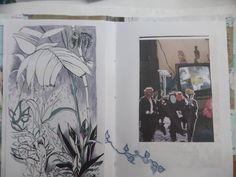 Artist book pages, drawing and collage, To Ease Our Dreams Upon. Tropical Houses, Book Pages, Collage, Dreams, Drawings, Illustration, Artist, Books, Painting