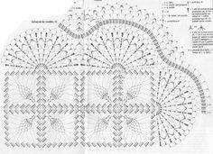 kwadratowy obrus na szydełku schematy - Szukaj w Google