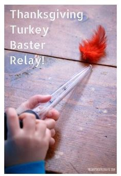 Seasonal Activity of the Week: Thanksgiving Turkey Baster Relay- pinned by @PediaStaff – Please Visit ht.ly/63sNtfor all our pediatric therapy pins