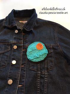 #nunofelt #brooch   #etsy: Spilla / Handmade pin Nuno Felting, Brooch, Handmade, Jackets, Etsy, Fashion, Atelier, Down Jackets, Moda