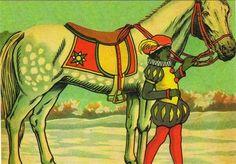 Zwarte Piet en het paard van Sinterklaas