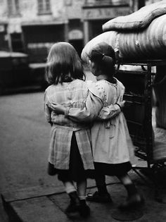 L'Amitie, Paris, France, 1952. By Edouard Boubat  ****Same two girls as in the previous pin