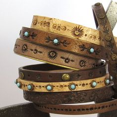 More Faux Leather Bracelets, Polymer Clay