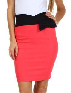 Sakkas 8641 Scallop High Waist Stretch Pencil Skirt with Bow - Coral - Large Sakkas,http://www.amazon.com/dp/B00B1ZMAY2/ref=cm_sw_r_pi_dp_3uPetb1WB5RVWF1R