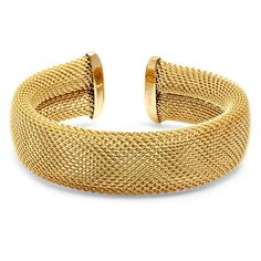 Ladies 18 KT Gold Plated Italian Mesh Bracelet