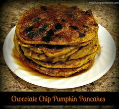 Your morning just became a little sweeter with this awesome Chocolate Chip Pumpkin Pancakes recipe!