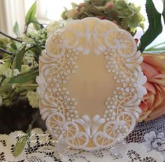 A Touch of Grace » Fantasy Lace Work Parchment Card