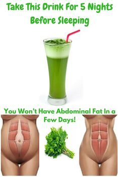 Take This Drink For 5 Nights Before Sleeping and You Won't Have Abdominal Fat In a Few Days! | Health and Beauty
