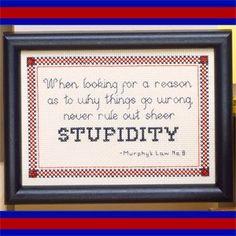 Stupidity Cross Stitch ePattern