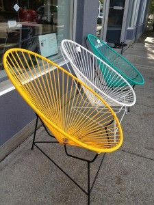 Cute, cute, and comfy looking! Acapulco chairs and color color color!  Casa Home Decor