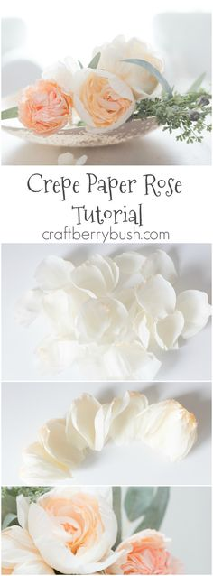 Craftberry Bush | How to Make a Crepe Paper Cabbage Rose | http://www.craftberrybush.com