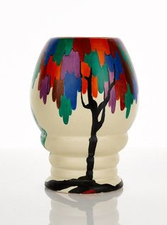 Buy online, view images and see past prices for Clarice Cliff, 'Bizarre' Vase. Invaluable is the world's largest marketplace for art, antiques, and collectibles. Clarice Cliff, Art Nouveau, Vintage Pottery, Vintage Ceramic, Pottery Painting, Pottery Art, Carlton Ware, Art Deco Furniture, Art Deco Design