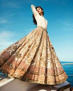HD Photos: Mahira Khan hot Beach Photo Shoot for 'Divani Pakistan' Lehenga Designs, Ethnic Outfits, Indian Outfits, Indian Clothes, Casual Outfits, Indian Attire, Indian Wear, Pakistani Dresses, Indian Dresses