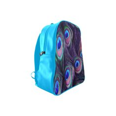 Peacock Feather School Backpack. FREE Shipping. FREE Returns. #lbackpacks #peacock