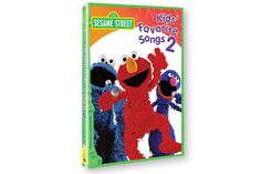 SESAME STREET KIDS' FAVORITE SONGS VOL 2 DVD - Sing and dance along to familiar kids' and Sesame St. tunes. See titles on our website. DVD 45 min.    Song list includes   On Top Of Spaghetti Hey Diddle Diddle The Ants Go Marching If You're Happy And You Know It Mary Had A Little Lamb Up and Down With Captain Brown Rubber Duckie Duermete Mi Nino Itsy Bitsy Spider