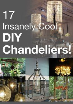 17 insanely cool DIY chandeliers - totally trying the porch light!