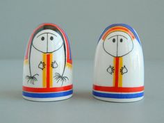Arabia Finland Lappalainen Eskimo Salt  Pepper by MonkiVintage