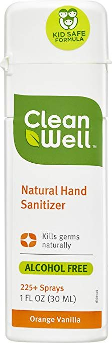 Cleanwell Natural Hand Sanitizer Orange Vanilla 1 Ounce