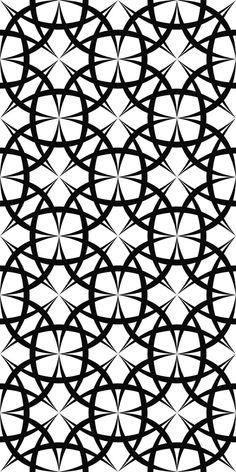 Seamless monochromatic curved line pattern design