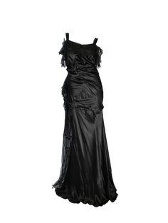 Rare Art déco Victor Stiebel fin des années 1920 en soie Satin robe de soirée robe Couture Vintage taille UK 8/10