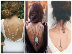 """Jewelry Trends: What's Hot Now in the World of Jewelry - Jewelry Making Daily - Blogs - Jewelry Making DailyBackdrop Necklaces Adorning celebrities, brides, and fashionistas everywhere, backdrop necklaces (sometimes called """"backlaces"""") make for a versatile and stunning accessory. While they may counter intuition, the necklaces create striking looks when paired with dressy outfits."""
